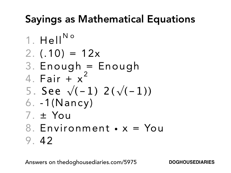 Images of Funny Math Equations - #rock-cafe